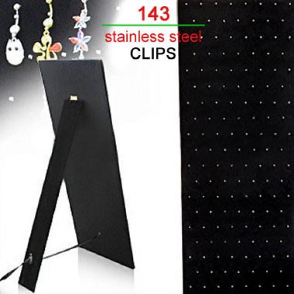 143 Clips Black Velet Cardboard Body Jewelry Display