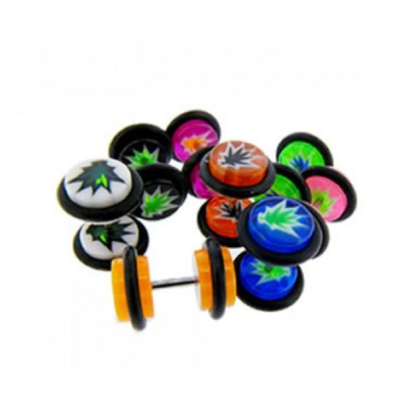 Leaf Acrylic UV Fake Plugs Faux Ear Plugs