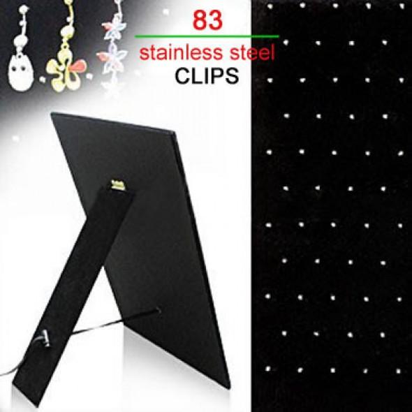 83 Clips Black Velet Cardboard Body Jewelry Display