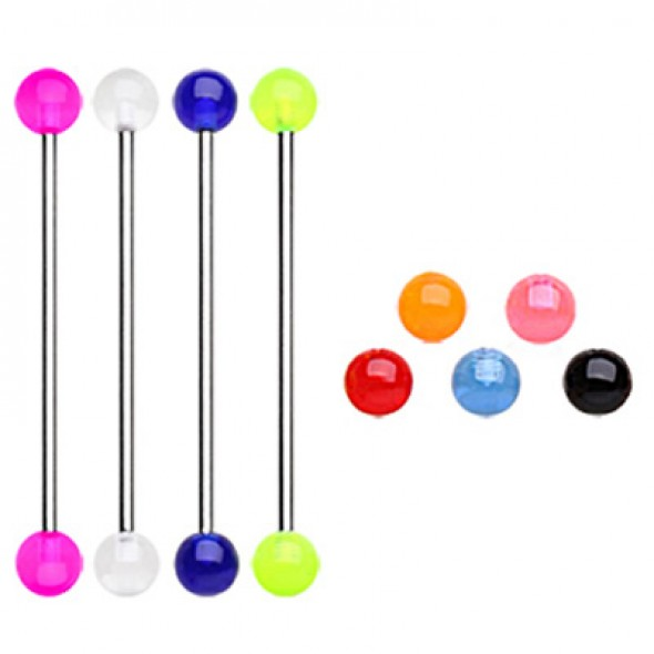 Acrylic UV Balls Industrial Barbells