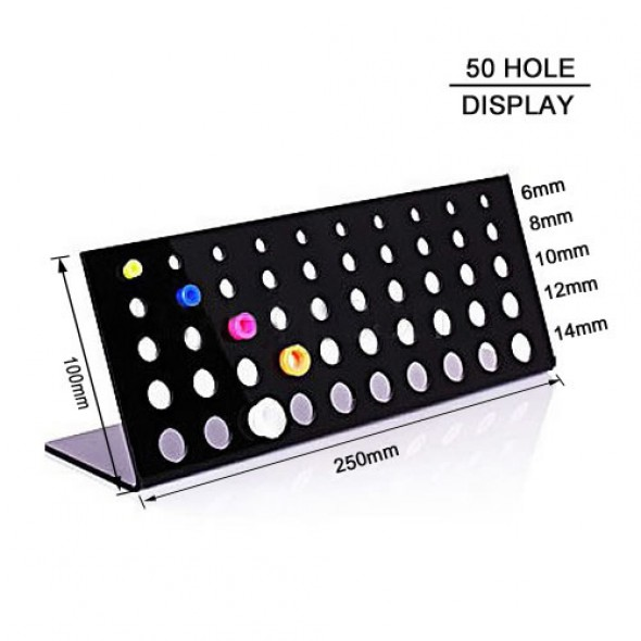 50 Holes Stand Black Acrylic Body Jewelry Display
