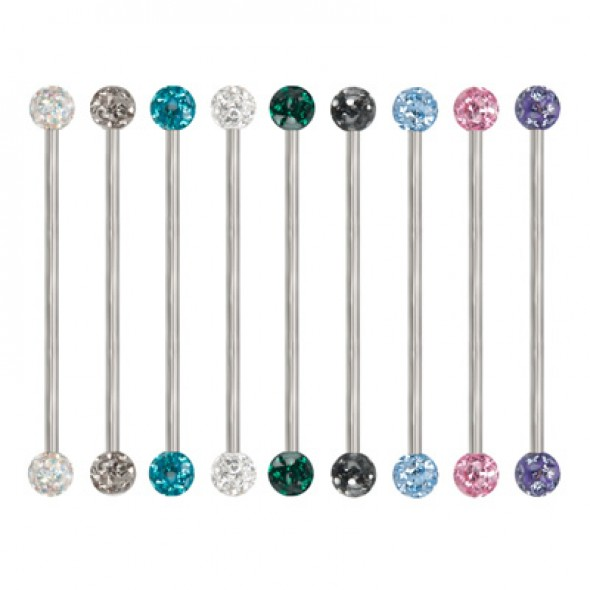 Epoxy Crystaline Ferido Ball Surgical Steel Industrial Barbells