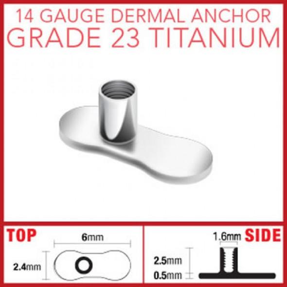 G23 Titanium Dermal Anchor Base Parts