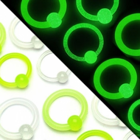Glow-in-dark Captive Bead Rings