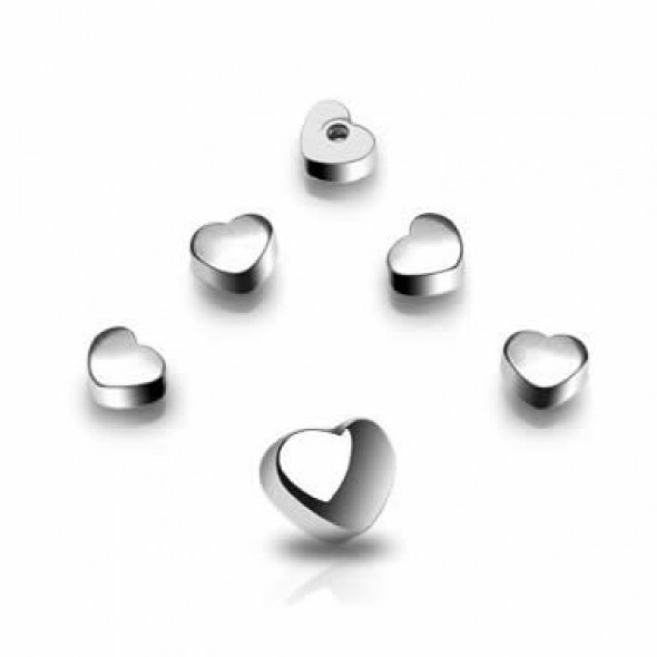 Surgical Steel Threaded Heart Body Jewelry Replacement