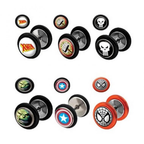Picture Logo Cheater Plugs with Rubber O-rings