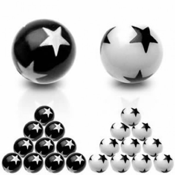Stars Acrylic UV Ball Body Jewelry Parts