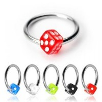 Acrylic UV Dice Captive Bead Rings