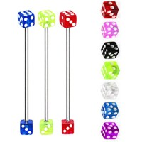 Acrylic UV Dice Industrial Barbells