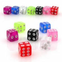 Acrylic UV Dice Body Jewelry Parts