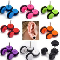 Solid Color Acrylic UV Fake Plugs Faux Ear Plugs