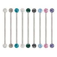 Epoxy Crystaline Ferido Ball Surgical Steel Industrial Barbells
