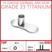 G23 Titanium Dermal Anchor Base Parts