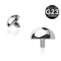 G23 Titanium Internally Threaded Dome Ball Body Jewelry Parts