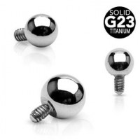 G23 Titanium Internally Threaded Ball Body Jewelry Parts