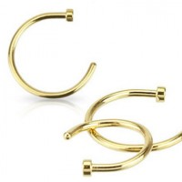 Gold Plated Surgical Steel Hoop Nose Rings