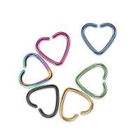 Titanium Anodized Heart Shape Cartilage Tragus Rings