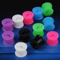 Mustache Silicone Flesh Tunnels / Eyelets