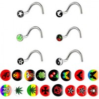 Picture Logo Surgical Steel Nose Screws Nose Studs