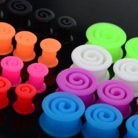 Spiral Silicone Flesh Tunnels / Eyelets