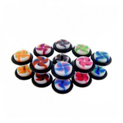 Swirl Acrylic UV Fake Plugs Faux Ear Plugs