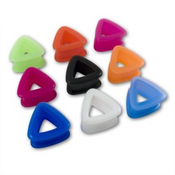 Triangle Silicone Flesh Tunnels / Eyelets