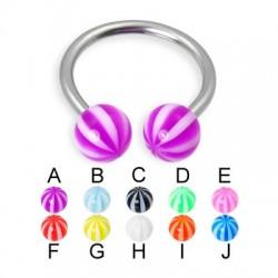 Acrylic UV Beach Balls Circular Barbells / Horseshoes