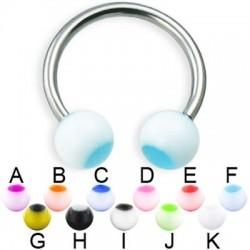 Acrylic UV Dot Balls Circular Barbells / Horseshoes