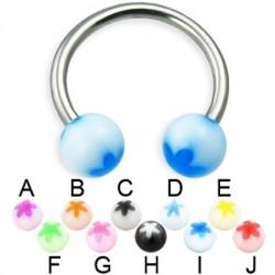 Acrylic UV Flower Balls Circular Barbells / Horseshoes