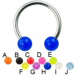 Glitter Acrylic UV Balls Circular Barbells / Horseshoes