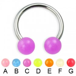 Glow-in-dark Acrylic UV Balls Circular Barbells / Horseshoes