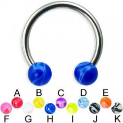 Acrylic UV Marble Balls Circular Barbells / Horseshoes
