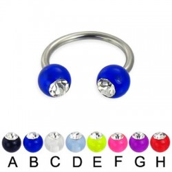 Acrylic UV Gem Balls Circular Barbells / Horseshoes
