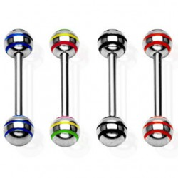 Striped Color Ball Straight Barbells