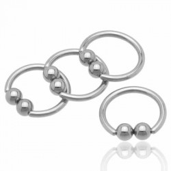 Double Ball Surgical Steel Captive Bead Rings