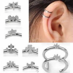 Double Closure Fake Cartilage Tragus Rings with Cutting Design