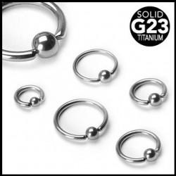G23 Titanium Captive Bead Rings