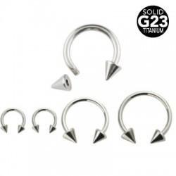 G23 Titanium Cone Circular Barbells / Horseshoes
