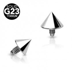 G23 Titanium Internally Threaded Cone Body Jewelry Parts