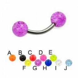 Glitter Acrylic UV Balls Banana / Curved Barbells
