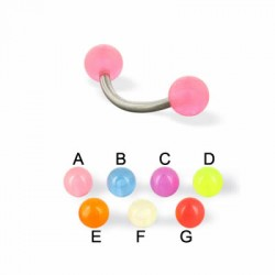 Glow-in-dark Acrylic UV Balls Banana / Curved Barbells