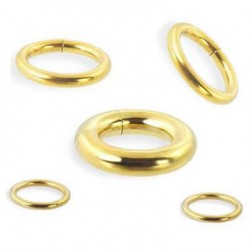 Gold Plated Surgical Steel Segment Rings