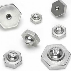 Surgical Steel Hexagonal Screw Nuts Body Jewelry Replacement