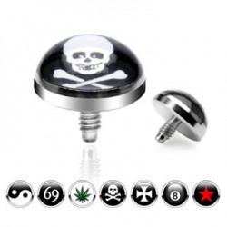Internally Threaded Picture Logo Disc Dermal Top Parts