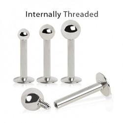 Internally Threaded Ball Labrets / Monroes