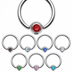 Jeweled Surgical Steel Captive Bead Rings