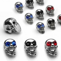Jeweled Eyes Casting Skull Body Jewelry Replacement