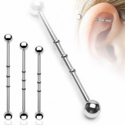 Surgical Steel Notched Industrial Barbells