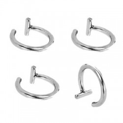 Surgical Steel One Closure Fake Cartilage Tragus Rings