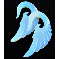 Carving Wing Opalite Ear Hanger Stretchers